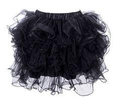 0783ea77ddf8 Black Adult Tutu Skirts, Tutu Skirt Women, Ladies Slips, Tulle Mini Skirt,
