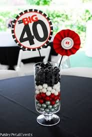 Mas Y Manualidades Rapidos Faciles Centros De Mesa Usando Numeros 40th Birthday Centerpieces