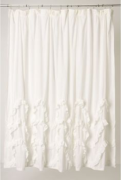 anthropology style curtains or shower curtain.
