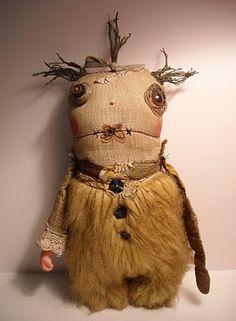 Junker Jane Art Dolls and Soft Sculptures: Monster Edwina Zombie Dolls, Voodoo Dolls, Ugly Dolls, Creepy Dolls, Cute Monsters, Little Monsters, Softies, Soft Sculpture, Sculptures