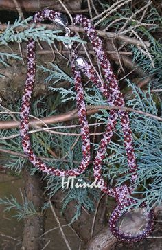 Transparent mountain jade pendant on seed bead necklace. Designed and made by HTünde  (Beaddict).