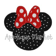 Machine Embroidery Design Mouse Ears with Bow by tmmdesigns