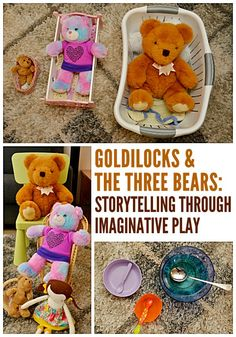 Math and literacy learning through imaginative play! A fabulous invitation to play for toddlers and preschoolers with Goldilocks and the Three Bears.