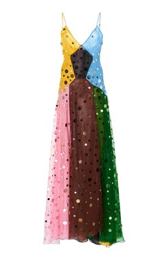 aef5c925884d9 Paneled Sequined Silk Dress by ROSIE ASSOULIN for Preorder on Moda Operandi