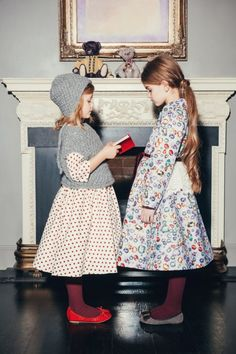 Soft daywear prints from Aristocrat Kids for winter 2014 with a trad feeling for kidswear