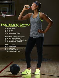 Tulsa Shock point guard Skylar Diggins reveals her go-to workout routine and diet - Edge - SI.com