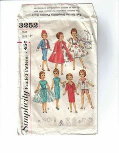 Free Copy of Pattern - Simplicity 3252