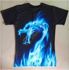 Pánské tričko s potiskem draka
