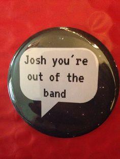 Josh Dun 2.5 Inch Pinback Button by SarcasticSister on Etsy