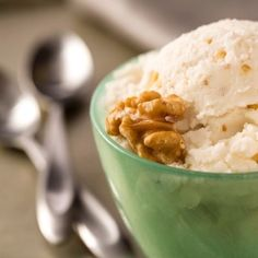 Fresh Ricotta And Walnut Ice Cream