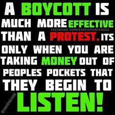 #boycott #protest #money