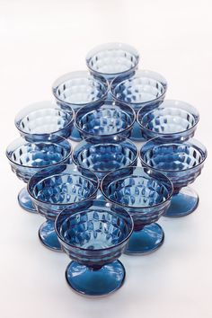 Set Of 12 Whitehall Colony American Riviera Blue by AnneTweekes