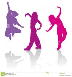 Silhouettes Of Girls Dancing Jazz Funk Dance - Download From Over 62 Million High Quality Stock Photos, Images, Vectors. Sign up for FREE today. Image: 44151223