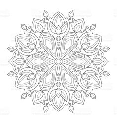 mandala-illustration-for-adult-coloring-vector-id519422084