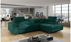 Moderní rohová sedačka Astra, zelená