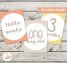 Baby Milestone Cards, Gender Neutral, Monthly, Photo Prop, First Year, Photo Signs, Print by EyePop Designs Adoption Baby Shower, First Year Photos, Baby Milestone Cards, World Days, Monthly Photos, 1 Year Olds, Baby Milestones, Sign Printing, Baby Month By Month