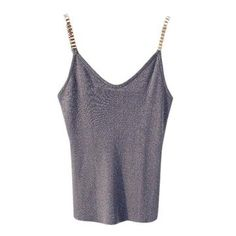 1f82cba75e744 Shiny Glitter Sleeveless Tank Tops V-Neck Knitted Camisole  Club Girls   Spaghetti Metal Strap Tops. Women s Summer FashionFashion ...