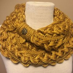 Hairpin Lace Infinity Scarf by OneClassyHooker on Etsy