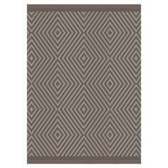 Anchor your patio seating or bring graphic appeal to your foyer with this versatile rug, showcasing a diamond motif for a touch of bold style.  ...