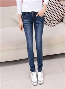 Fashion Comfortable High Class Dark Blue Skinny Jeans: tidestore.com