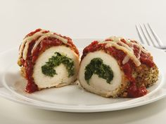 Spinach Stuffed Chicken Parmesan