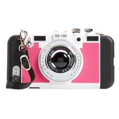 Women's Bp. Iphone 7 Faux Camera Crossbody Phone Case ($19) ❤ liked on Polyvore featuring accessories, tech accessories and pink multi