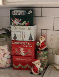 I love this pic. My Mom has the White Christmas List tin box.