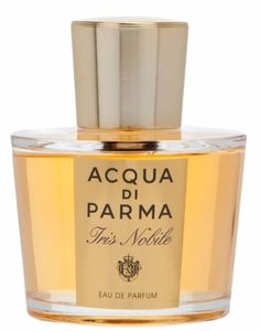 Acqua di Parma Iris Nobile Acqua di Parma perfume. opens with luminous fresh citrusy notes of orange, mandarin and bergamot, followed by anise. The beauty of the iris flower is accentuated by the whole floral chorus of orange blossom, ylang-ylang, tuberose, mimosa and woodsy cedar nuance in the heart, among which the orange blossom is the most persistent companion.