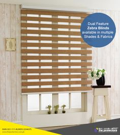 Zebra Blinds offers artistic feeling to the user functionally and acts as sunshade at the same time.Buy High Quality Zebra Blind Shades from Spectra Blinds.Install Zebra Blinds & Control the light & privacy of your home at a time. Window Drapes, Blinds For Windows, Curtains With Blinds, Window Coverings, Roman Blinds, Persiana Double Vision, Zebra Blinds, Night Window, Motorized Shades