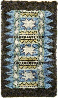 """"""" Wool Rya Rug, c1950. """""""