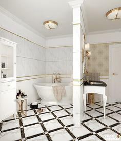 Design Interior Apartament în stil Neoclasic, Complex VallettaCreativ Interior Clawfoot Bathtub, Interior Design, House, Fancy, Houses, Nest Design, Home Interior Design, Home, Interior Designing