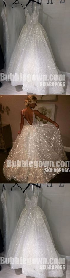 Sparkle V Neck Elegant V Back Best Sale Evening Long Prom Dress, BGP066 #promdress #promdresses #longpromdress #longpromdresses