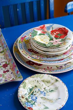 Floral China - bright color, bold pattern