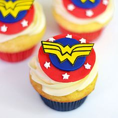 How to Make Wonder Woman Cupcakes Video | MyRecipes.com