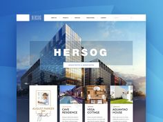 Here's something fresh for you guys - one of the first mockups of a site design for HERSOG architecture bureau.  P.S> Be sure to check out the attachment!  Behance