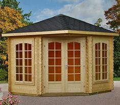 There are many reasons why you might install a Melanie log cabin in your garden, the most obvious is generous