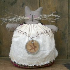 Taluleh The Primitive Folk Art Kitty Cat by scaredycatprimitives