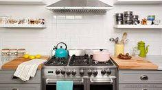 Resultado de imagen para cocina pequeñas moderna con repisas