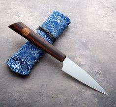 Cocobolo & Chittim Stainless Paring knife handmade by Don Carlos Andrade.