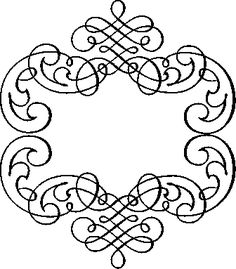 Calligraphic Design Element and Page Decoration Royal Icing Piping, Front Gate Design, Page Decoration, Paper Ornaments, Swirl Design, Love Craft, Digital Stamps, Diy Paper, Coloring Pages