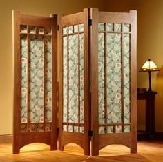 Build a handsome folding screen to hide clutter or temporarily divide a room.