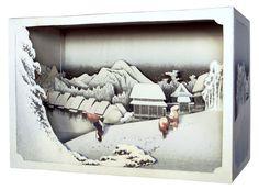 DIY Paper diorama Hiroshige Ando evening by NOOKatmosphere