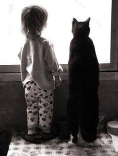 love when children are friends with animals......