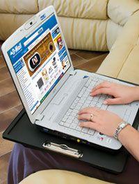 Cuscino per laptop con maniglia e clip #dmail