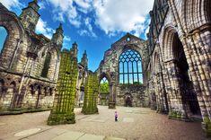 Holyrood Abbey Ruins - Holyrood Palace, Edinburgh, Scotland