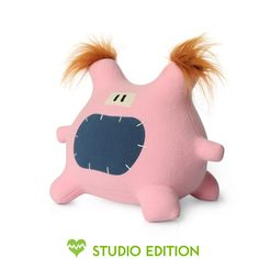 Lucy is always late for work and her laugh is inappropriately loud. $30 #plush #monster #monsterfactory #toy #design