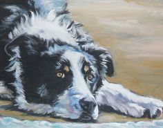 Border Collie canvas art print of LA Shepard by TheDogLover, $39.99