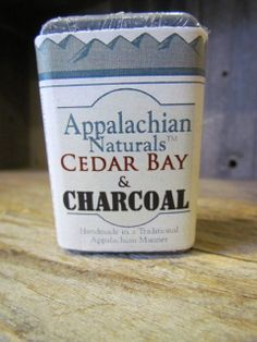 Appalachian Naturals Cedar Bay and Charcoal soap is naturally detoxifying!