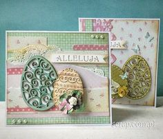 kartki wielkanocne ręcznie robione - Szukaj w Google Easter Cross, Easter Projects, Decorative Boxes, Scrapbooking, Stamping, Craft, Spring, Google, Cards