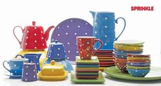 Shop Wayfair for Maxwell & Williams Sprinkle Dinnerware Collection - Great Deals on all Kitchen & Dining products with the best selection to choose from! Stoneware Dinnerware Sets, Square Dinnerware Set, Tableware, Kitchenware, Food Photography Props, Dish Sets, Decoration Table, Sprinkles, Tea Party